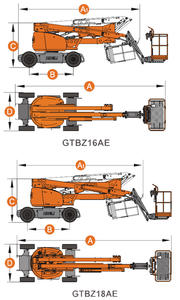 Boom Lift Dingli GTBZ 16-18AE - measurements